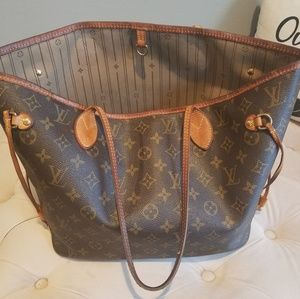 Authentic Louis Vuittion Monogram Neverfull (Mm)